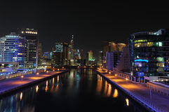 Dubai Marina at night Stock Photography