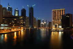 Dubai Marina at night Royalty Free Stock Photo
