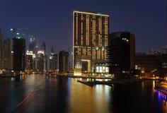 Dubai Marina at night Royalty Free Stock Photography