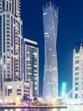 Dubai marina at night Stock Images