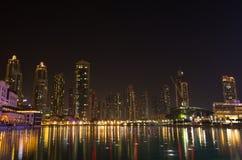 Dubai Marina by night Royalty Free Stock Photography
