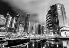 Dubai Marina at night Royalty Free Stock Image