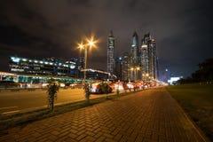 Dubai Marina at night Royalty Free Stock Photos