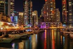 Dubai Marina at night. United Arab Emirates Stock Photo