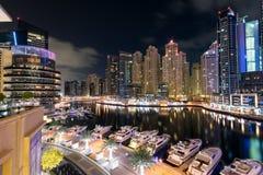 dubai marina noc Zdjęcie Royalty Free