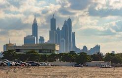 dubai marina noc emiraty arabskie united Zdjęcie Royalty Free