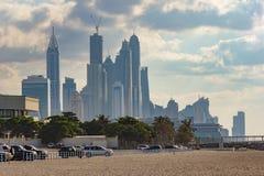 dubai marina noc emiraty arabskie united Zdjęcia Royalty Free