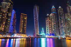 Dubai Marina. Is one of the most luxurious areas in Dubai Stock Photography