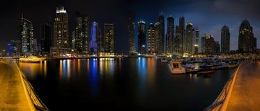 Dubai Marina Panorama Stock Images