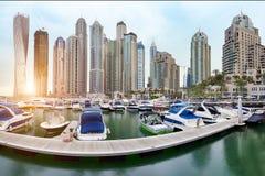 Dubai Marina. Panorama View Of Dubai Marina Royalty Free Stock Photo