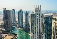 Dubai Marina Panoramic View Stockfotografie