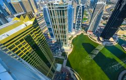 Dubai Marina Panoramic View Stockfotos