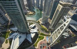 Dubai Marina Panoramic View Lizenzfreies Stockbild