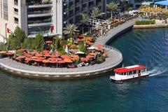 Dubai Marina. Restaurants and bars stock photo