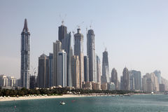 Dubai Marina Skyline Stock Images