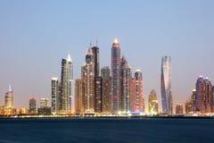 Dubai Marina Skyline Foto de archivo