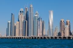 Dubai Marina Skyline Stockbilder