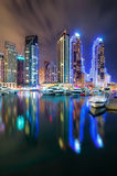 Dubai marina skyline, Dubai, United Arab Emirates Royalty Free Stock Images