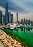 Dubai marina skyline, Dubai, United Arab Emirates Royalty Free Stock Image