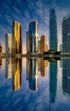Dubai marina skyline, Dubai, United Arab Emirates Stock Photography