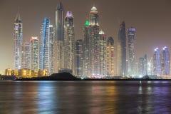 Dubai Marina skyline in late evening Stock Photography