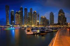 Dubai Marina. Skyline sunset picture shot at Dubai marina Stock Photo