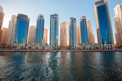 Dubai Marina skyline. View of the skyscrapers stock photography