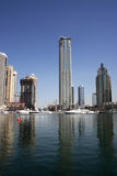 Dubai Marina skyscraper royalty free stock photos
