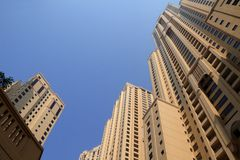 Dubai Marina Skyscrapers Royalty Free Stock Photos