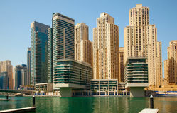 Dubai Marina Skyscrapers Stock Images