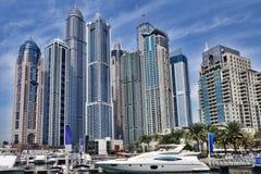 Dubai Marina with skyscrapers in Dubai, United Arab Emirates Stock Photography