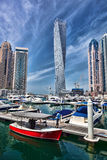Dubai Marina with skyscrapers in Dubai, United Arab Emirates Stock Photos
