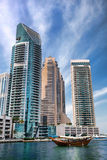 Dubai Marina with skyscrapers in Dubai, United Arab Emirates Stock Photography
