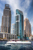 Dubai Marina with skyscrapers in Dubai, United Arab Emirates Royalty Free Stock Photo