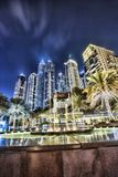 Dubai Marina with skyscrapers in the evening, Dubai, United Arab Emirates Royalty Free Stock Photo