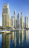 Dubai Marina skyscrapers. Royalty Free Stock Photo
