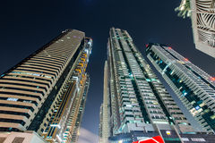 Dubai marina skyscrapers Royalty Free Stock Images