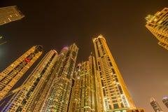 Dubai marina skyscrapers Stock Photography
