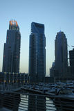 Dubai Marina Skyscrapers, united arab emirates Royalty Free Stock Images