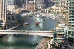 Dubai Marina skyscrapers Royalty Free Stock Image