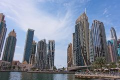 Dubai Marina in a summer day, UAE. stock images