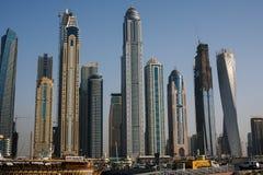 Dubai marina. In sunny day Royalty Free Stock Photos