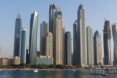Dubai marina. In sunny day Royalty Free Stock Image