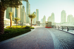 Dubai Marina at sunrise Royalty Free Stock Image