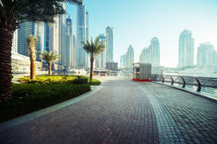 Dubai Marina at sunrise Royalty Free Stock Photography