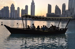 Dubai marina sunset Royalty Free Stock Photo