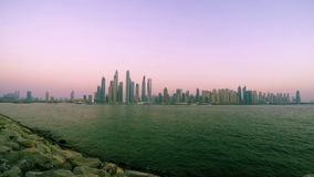 Dubai Marina Sunset stock footage