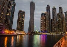 Dubai Marina in the sunset Stock Image