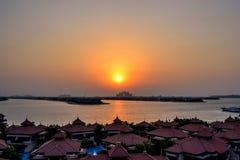 Dubai Marina during sunset Stock Images