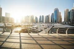Dubai Marina at sunset Royalty Free Stock Photo